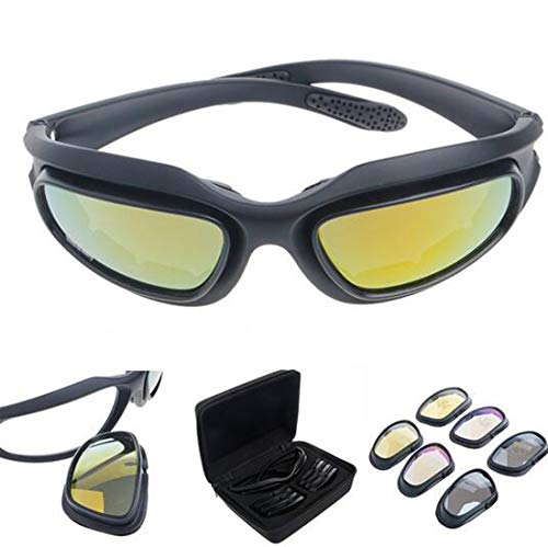 Polarized Driving Riding Lens Sun Glasses with 4 Lens for...