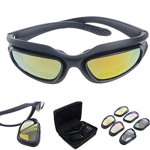 Binoster Occhiali da sole polarizzati di guida equitazione lenti con 4 lenti per moto bicicletta attività outdoor sport caccia militare