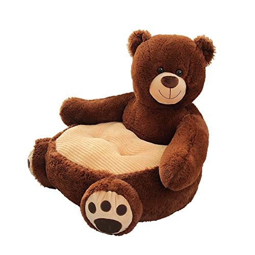 Pelande Kinder Plüsch Sofa Sitz Kinderstuhl Komfort Sessel Tier Sofa Sitz (Bär,02)