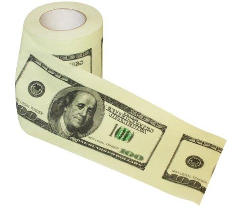 Rollo higiénico de dólares americanos