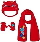 Tuc Tuc 50325 Set de bufanda, gorro y guantes, Rojo (Rojo 3), 1.5 (Tamaño del fabricante:48) para Niñas
