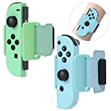 <span class='highlight'><span class='highlight'>FYOUNG</span></span> 2 Pack Dance Band for Just Dance 2020 Switch and Zumba Burn It Up Switch, Adjustable Elastic Wrist Band Straps for Nintendo Joy-Cons - Light Blue/Green