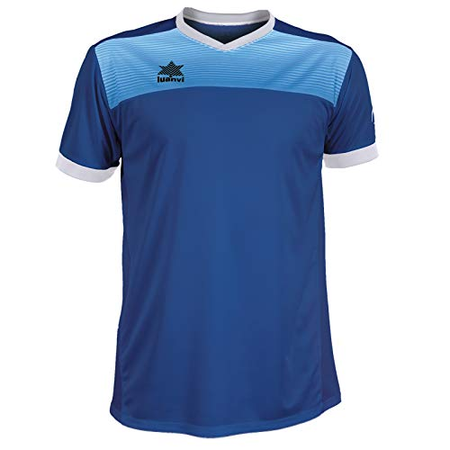 Luanvi Bolton Camiseta Manga Corta de Tenis, Hombre, Azul, L