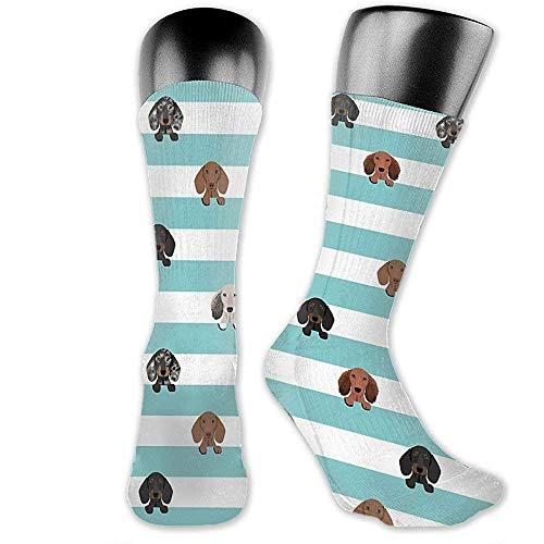 NGMADOIAN dakshond streep hond mok dodies geschenken over-the-Calf sokken atletic sokken kniekousen voor mannen vrouwen sport lange sokken 40cm