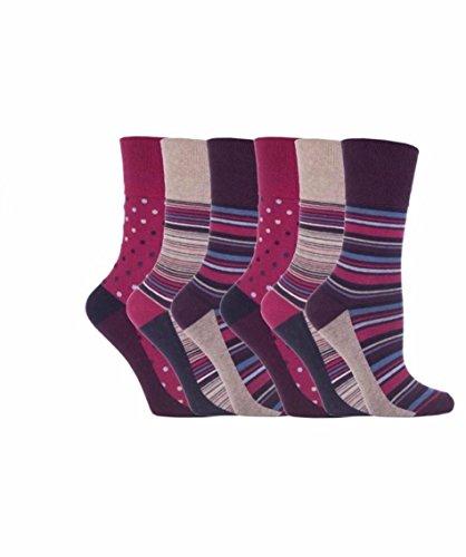 6 Paar SockShop Everyday Gentle Grip Socken siehe Auflistung Damen 37-42 Gr. One size, 6 x Rh55
