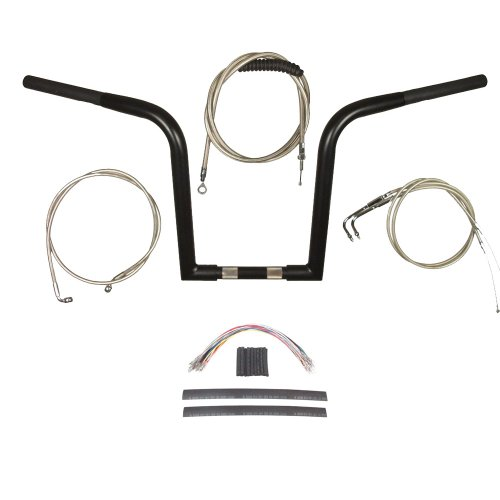 Hill Country Customs 1 1/4' Black Wild 1 WO614 14' Ape Hanger Kit for 2011 & Newer Harley-Davidson Softail models with ABS brakes - BSC-0601-3158-ST11-ABS
