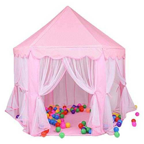 Hexagonal Tent House, Baby's Sleeping Tent Anti-mosquito Gauze Tent Bedroom Nap Tent/Blue, Pink/140 * 140 * 140 CM Kids Toy Tent (Color : Pink, Size : 140 * 140 * 140CM)