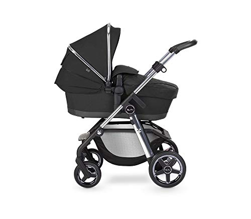 Silver Cross Pioneer Travel System, Multi-Terrain Baby Pram for Newborn to Toddler, for City to Off Road, with Reclinable Reversible Pushchair Seat and Carrycot - Pepper SX2222.PR