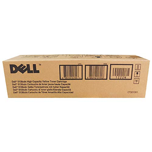 Genuine Dell (330-5852, F916R) High Yield Yellow Laser Toner Cartridges for the Dell 5130cdn