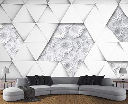 Papel Pintado 3D Flor De Origami Triangular Fotomurales Decorativos Pared 3D