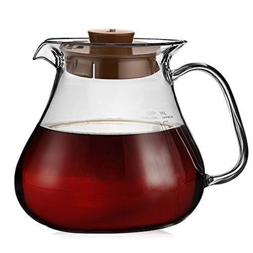 YQQ-Cafetière Serveur de café de la Gamme 600ml Carafe Verser sur la Bouilloire épaissie par Verre résistant à la Chaleur Résistant à l'égouttement pour l'eau de thé à la Main café thé etc.