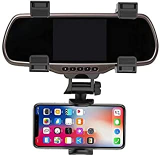 360 Rotation Adjustable Car Rearview Mirror Mount Phone Holder GPS Stand Universal Navigate Support Automobile Data Record...