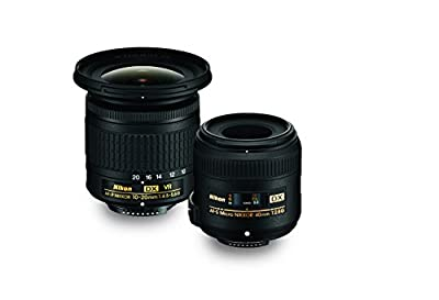 Nikon Landscape & Macro Two Lens Kit with 10-20mm f/4.5-5.6G VR & 40mm f/2.8G by Nikon