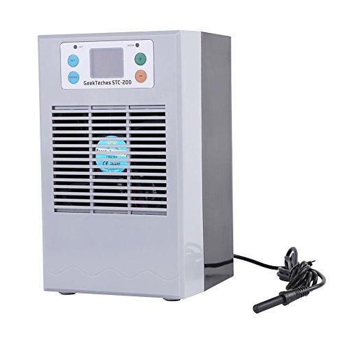 Calentamiento de agua de enfriamiento, termostato de maquina de calentamiento de enfriamiento de agua de tanque de peces 100-240V para acuario(EU 35L 100W)
