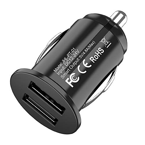 USB Car Charger,Bralon Mini 24W/4.8A Dual USB Fast Car Charger Flush Fit Compatible with iPhone 11/11 Pro/XS/Xr/X/8 7 6 S Plus,Galaxy Note S10 S9 S8 S7,iPad,Mp3&More