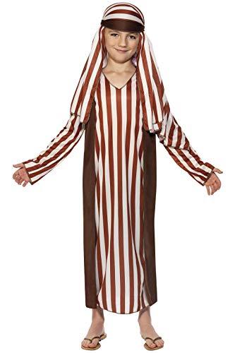 Smiffys, Kinder Jungen Schäfer Kostüm, Robe und Kopfbedeckung, Größe: M, 31285