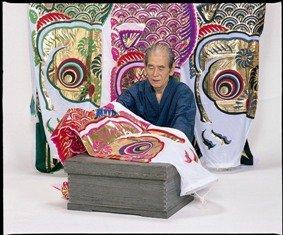 秀光人形工房『金昇龍吹流入り15号ナイロンタフタ友禅染め3色鯉のぼりセット(C6501)』