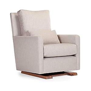 Monte Design Upholstered Modern Nursery Como Glider Chair, Sand