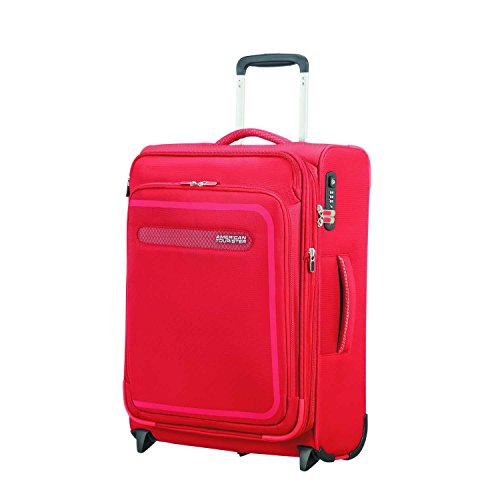 American Tourister Airbeat - Upright 55/20 Expandable Bagaglio a mano, 55 cm, 48 liters, Rosso (Pure Red)