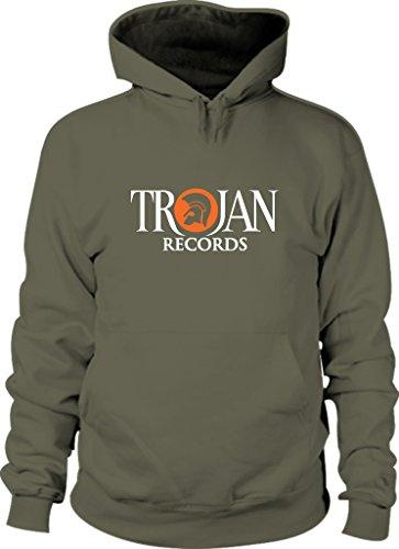 Revolutionary Tees TROJAN de discos de vinilo Reggae de color plateado y dorado 2 Ska * tallas S a sudadera con capucha mezcla de Heavy - XXL