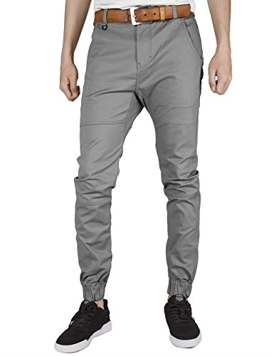 ITALY MORN Pantalones Jogger Chinos Deportes Hombre Running Casual Chandal (38, Medio Gris)