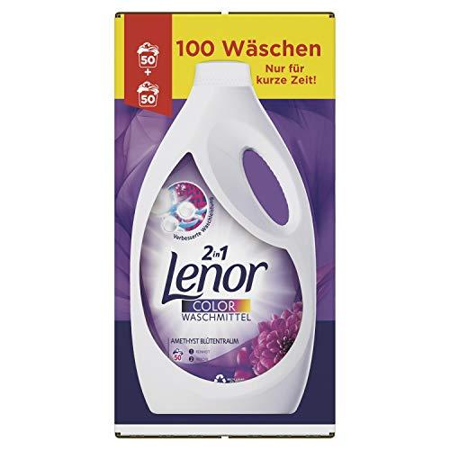 Lenor Waschmittel Flüssig Amethyst Blütentraum Colorwaschmittel 100 Waschladungen
