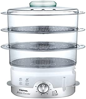 Tefal VC 100630 超紧凑 II 3篮 900W 灰色,银色蒸汽锅 VC 100630 超紧凑 II,3 个篮球,灰色,银色,900 W