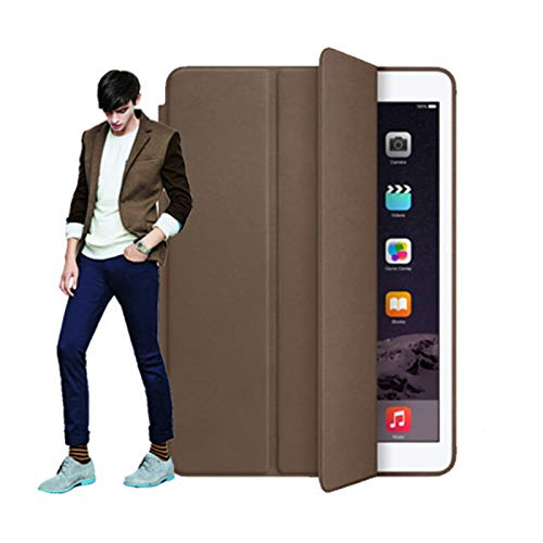 The Protective Cover is Suitable for ipad 10.2 (2019/2020), Soft Cover, Smart Dormancy, Leather case Wrapped with Buttons, Three Folds, Multiple Colors,Brown