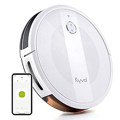 Kyvol Cybovac E20 Robot Vacuum Cleaner, 2000Pa Suction, 150 min Runtime, Boundary Strips Included, Quiet, Slim, Self-Charging, Works with Alexa, Ideal for Pet Hair, Carpets, Hard Floors (Pure White)