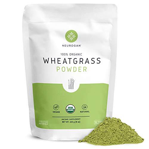 Neurogan Wheatgrass Powder Organic (1lb) - Rich in Vitamins, Fiber, Chlorophyll & Trace Minerals - Vegan, Non-GMO, USDA Organic Certified, Gluten Free, Made from Whole Leaf