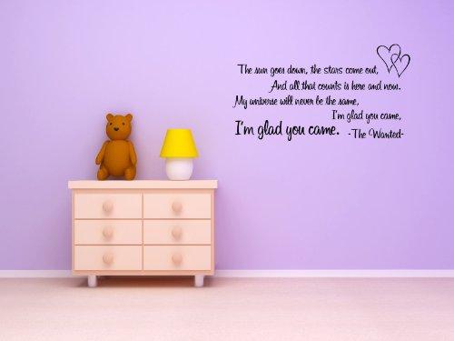 'I' m Glad You Came 'música Vinilo Pared Arte Adhesivo gráfico