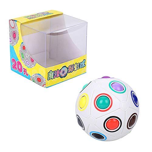 Herefun Magic Ball, Regenbogenball Magic Ball Rainbow Spielzeug Magie Regenbogen Ball Spielzeug für Kinder - 20 Löcher