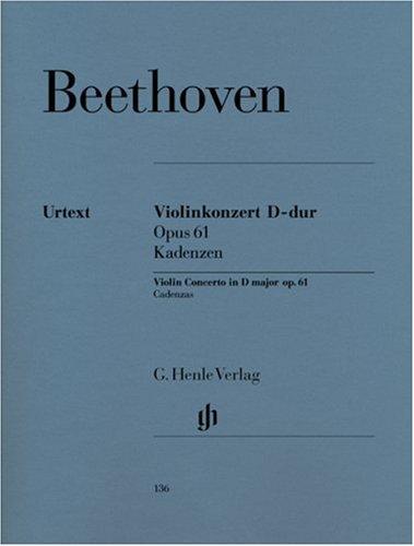 Kadenzen Zum Vl Konzert Op 61. Violine