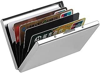 billion BAG Waterproof Plain ATM Attractive Business 8 Card Holder Case for Travel ID/Visiting/Debit/Credit (Silver)