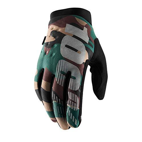 100% HP-10016-061-12 Erwachsene Handschuhe, Brisker Handschuhe, Camo Schwarz, L