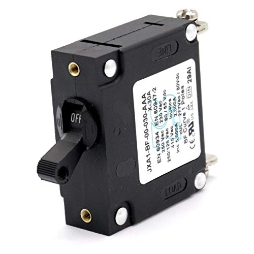 T Tocas 30A Toggle Single Pole Circuit Breakers Hydraulic Magnetic Circuit Protector AC or DC 80 V
