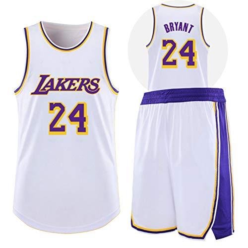 CHYSJ Kobe # 24 Lakers Basket Maglia da Basket, Maglia commemorativa, Swingman Maglia Senza Maniche Maglia, Maglia da Basket XS
