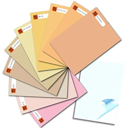 カッティング用シート 厳選カラーコレクション はがきサイズ ヌードカラー10枚セット 転写シート1枚おまけ付き