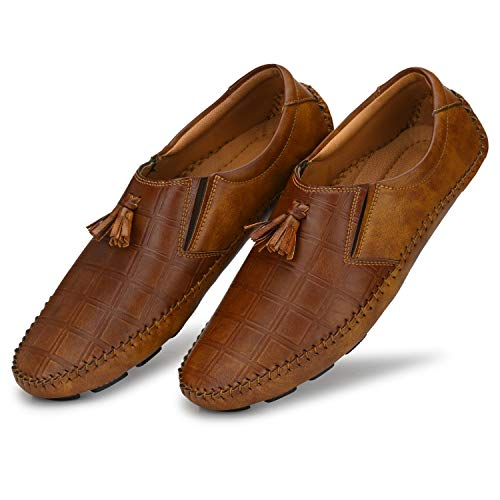 Prolific Men's Brown Casual Loafers (8, Tan)