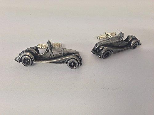 Prideindetails – Morgan +8 Boutons de manchette 3D en étain, Forme de voiture classique, Ref153