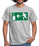 Sortie De Secours Tireuse À Bière T-Shirt Homme, L, Gris chiné