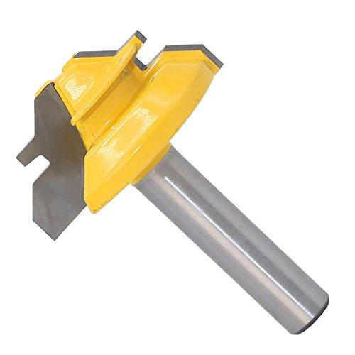 45 Grad Verleimfräser 8mm 3/8 Schaft Gehrungsfräser Router Bit Holzbearbeitung Werkzeug für Graviermaschine Trimmmaschine