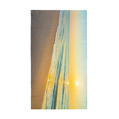 Surwin Grande Toalla de Playa de Microfibra Toalla a Impresión de Secado Rápido Súper Absorbente Natación Toalla de Arena Antiadherente para Playa (Atardecer,70x150cm)