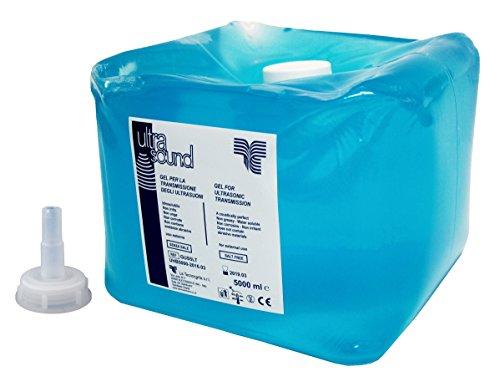 tecnocarta gus5ltsp Gel para ultrasonidos con boquilla Bomba para barril, 5L, azul
