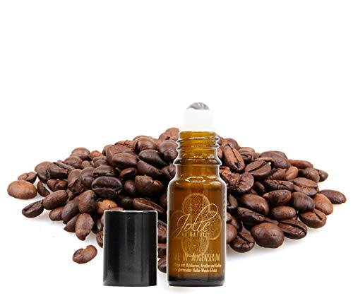 *Neu* Bio Wakeup-Augenserum mit Massage Roll on -aktiv glättender Feuchtigkeit-Kick bei geschwollenen Augen 2-fach veganes Hyaluron Kaffee & Kaktusfeigenkernöl Rosenwasser Basis handgefertigt