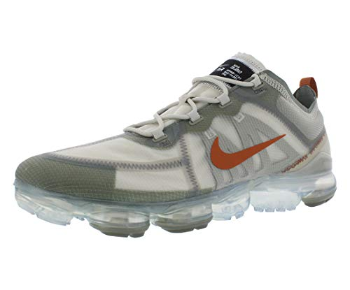 Nike Men's Air Vapormax 2019 Running Shoes (10 M US, Vintage Lichen/Dark Russet-Light Bone)