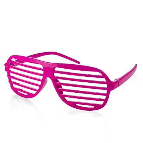 Pink 80's Shutter Shades, Unisex for Adults