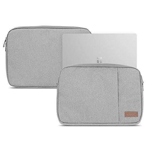 NAUC Trekstor Primebook P13 P14 P14B Hülle Grau Laptop Schutzhülle Tasche Notebook Hülle Cover