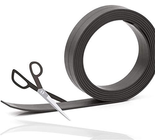 5x 5 Meter Magnetklebeband Magnetstreifen Metallband Magnetfolie Band Klebeband Magnet Magnetband Klebestreifen selbstklebend (5x Stück)