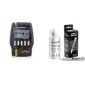 Compex SP 4.0. Electroestimulador, Unisex, Gris + Motor Point - Lápiz de Punto Motor, Plateado, Standard